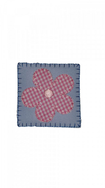 Petic textil, patch brodat , 65 x 65mm, aplicare la cald, Flower, Wenco