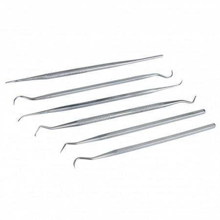 Scule pentru agatat , sculptură , set 6 piese , oțel inoxidabil , Silverline Pick/Probe Set 6pce