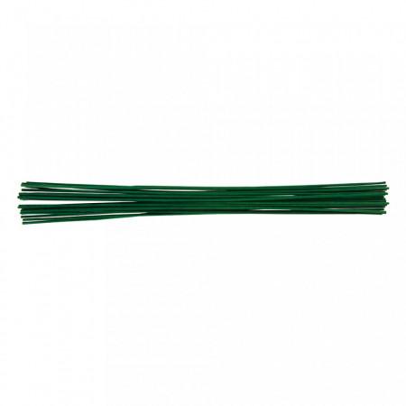 Suport plante bambus vopsit verde, 600mm, 25 piese, Silverline