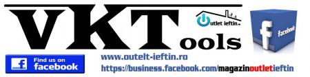 Aerograf Semi-profesional kit 6 piese , metal , duza 0.35mm , Silverline Air Brush Kit 6pce