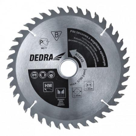 Disc circular pentru taiat lemn , 190mm x 60T x 30mm , dinti vidia , Dedra