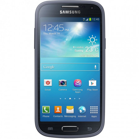 Husa de protectie Samsung EF-PI919BNEGWW pentru Galaxy S4 Mini I9195, Blue Navy