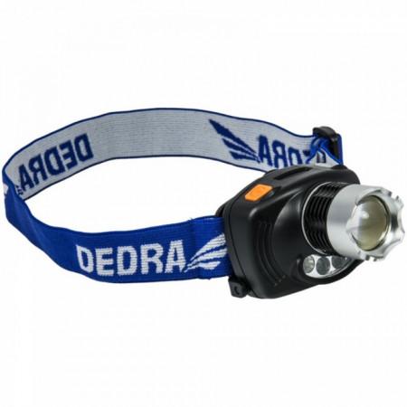 Lanterna de cap 3W LED , 250 de lumeni , senzor infrarosu , DEDRA