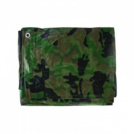 Laterala cort sau pavilion camuflaj , 2.4 x 3 m , Silverline Camouflage Tarpaulin