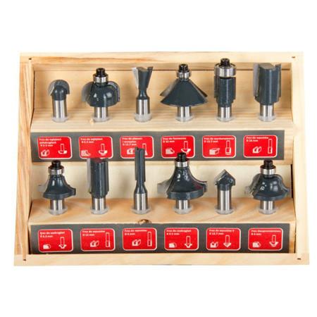 Set 12 freze lemn, prinde 8mm, Proline