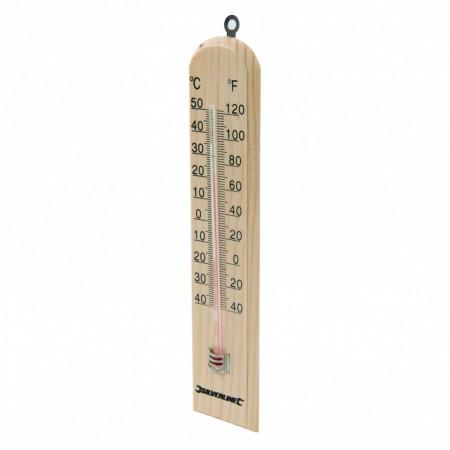 Termometru din lemn , 250 x 60 x 10 mm , Silverline Wooden Thermometer