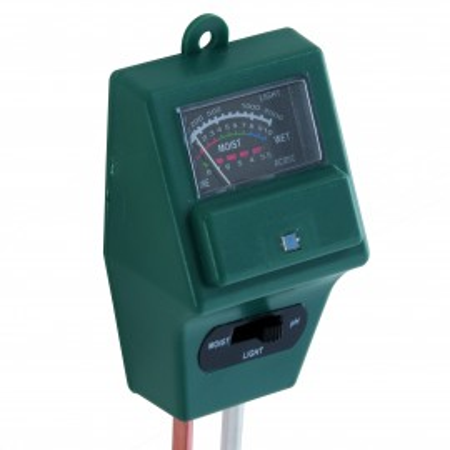 Tester de sol 3-in-1 , determina nivelul pH-ulu (acid / alcalin), umiditate ,lumina