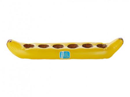 Banana gonflabila, suport 6 pahare piscina, 86 x 20 x 12.5cm, Crivit