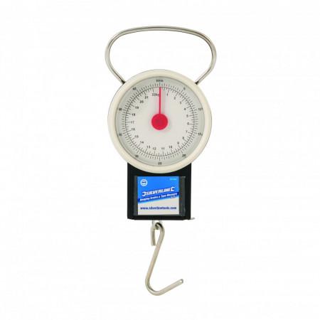 Cantar suspendat cu ruleta , 22Kg , diametru 65mm , Silverline Hanging Scales & Tape Measure