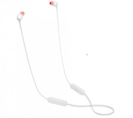 Casti Bluetooth JBL by Harman Kardon , T115BT, Alb