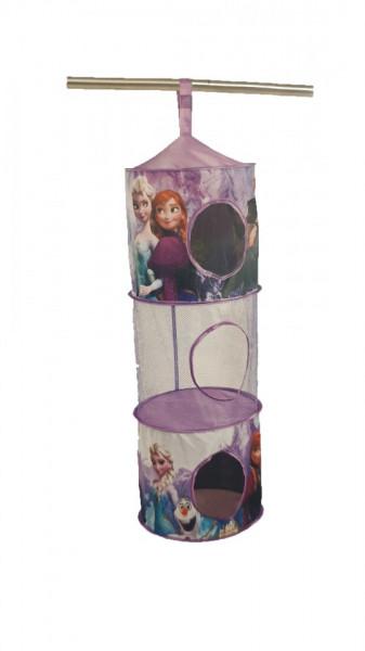 Cos depozitare suspendat, 3 compartimente, 3 kg, Disney Frozen
