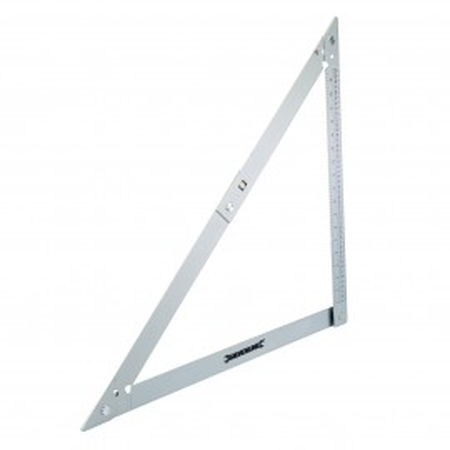Echer pliabil din aluminiu 600mm , Silverline Folding Frame Square
