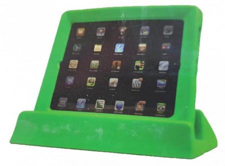 Husa protectie tableta cu suport, protectie pentru copii, cauciuc spuma, compatibil Apple Ipad 2, Ipad 3, Ipad 4, verde, CKP Yup Yup