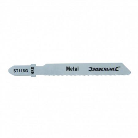 Lame fierastrau pendular pentru metal , 5 piese , Silverline Jigsaw Blades for Metal 5pk