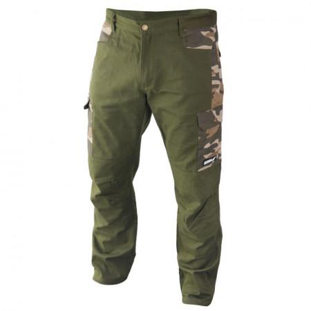 Pantaloni de lucru, vanatoare, verde inchis, camuflaj, XXL, 200g/m, 97% bumbac, 3% elastan, Dedra