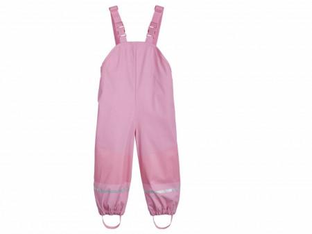 Salopeta ploaie copii, 74/80, 6-12 luni, roz, interior flausat, Lupilu