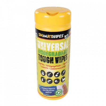 Servetele antibacterian puternic pentru suprafete multiple, biodegradabile, 40 buc, Aloe Vera extract, Medium, Smart Wipes