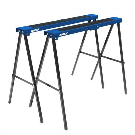 Set 2 capre metalice, 250Kg, 995x780x450mm, Dedra