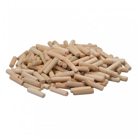Set 200 cepuri lemn imbinari, 10 x 40mm, lemn mesteacan, Silverline
