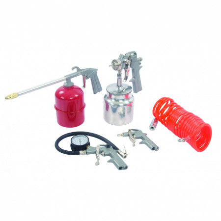 Set accesorii aer comprimat , 5 piese , Silverline Air Tools & Compressor Accessories Kit 5pce