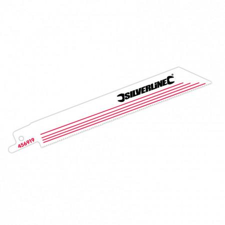 Set lame pentru fierastrau vertical tip sabie 5 buc, lemn si metal Silverline Recip Saw Blades for Alloy 5pk