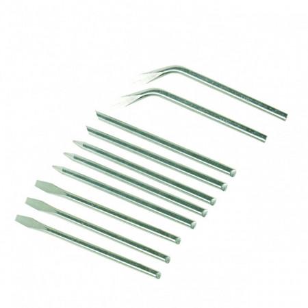 Varfuri de lipit pentru letcon , 3.8mm , 40W , set 10 piese , Silverline Soldering Iron Tips Set 10pce