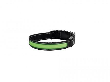 Zgarda caini, banda LED, acumulator, marimea L, circumferinta 47 - 55 cm x 3.5 cm, Zoofari