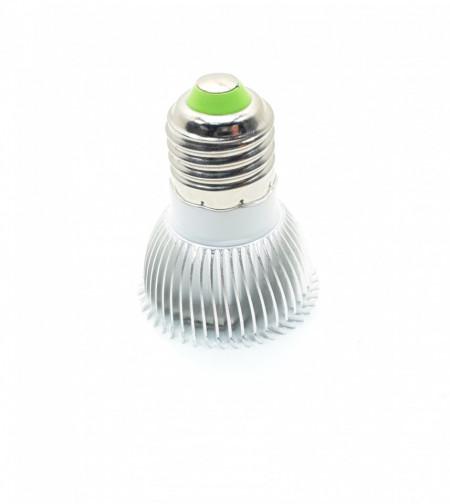 Bec spot led, 3W, 3 x 1W, 3 led-uri, soclu E27, radiator aluminiu, 220V, lumina rece, VKTools