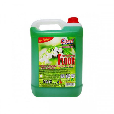 Detergent pardoseli, fara clatire, Lacramioare, 5L, Cloret