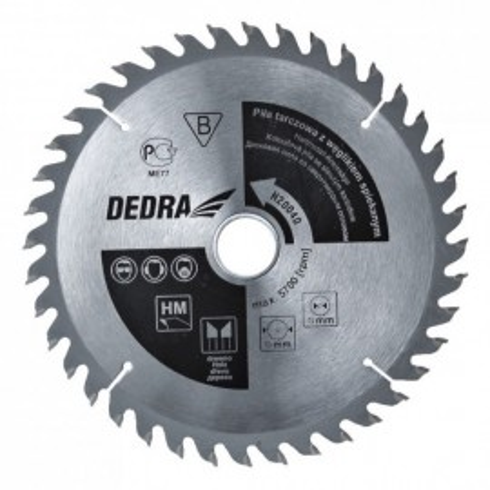 Disc circular pentru taiat lemn , 190mm x 24T x 30mm , dinti vidia , Dedra