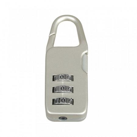 Lacat cu cifru,bagaj, valiza, geanta, 22 x 56 x 12mm, Silverline