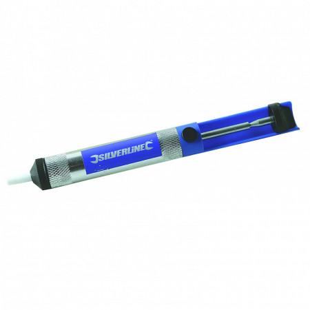 Pompa extractor fludor prin aspiratie , aluminiu , Silverline Metal Solder Sucker