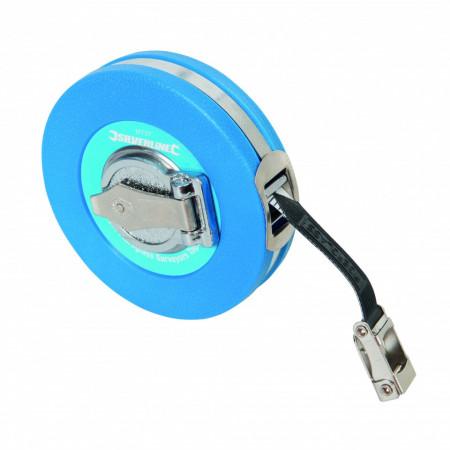 Ruleta 10M , carcasa din plastic dur , Silverline Fibreglass Surveyors Tape