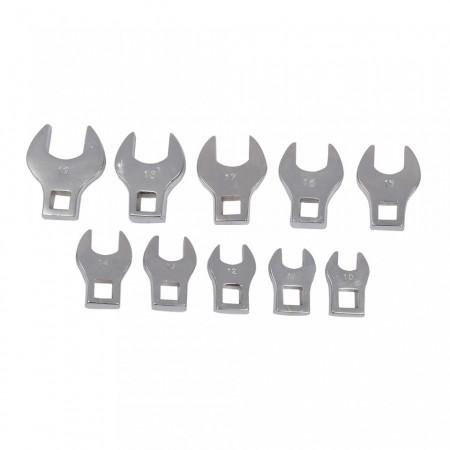 Set 10 chei fixe mini, 10 - 19 mm, spatii greu accesibile, Silverline