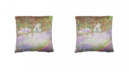 Set 2 perne decorative premium, 43 x 43 cm, pictura, husa detasabila, George Home