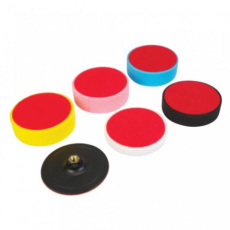 Set 6 discuri polisat, 150mm, 150x50mm, Silverline