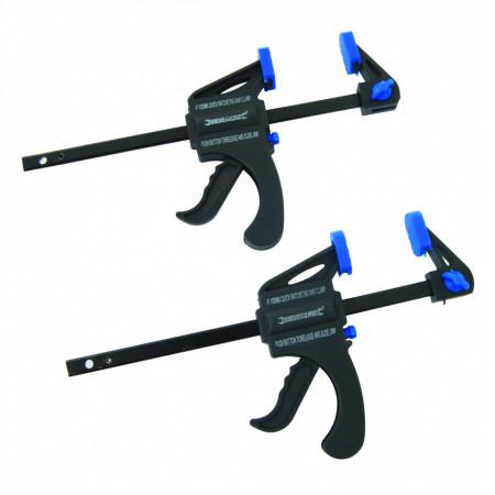 Set mini clema / presa rapida , 2 buc 100mm , Silverline Mini Clamps 2pk