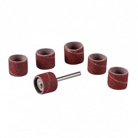 "Set tambur pentru slefuit 7 piese ,12.70mm (1/2"") , 80 grif , 3.17mm , Silverline Rotary Tool Drum Sanding Set 7pce"