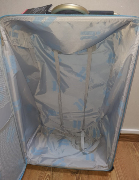 Troler textil mare, cadru fibra sticla, extra usor, 2.2kg, 75 x 45.5 x 26.5cm, bleu, XL, IT LUGAGGE