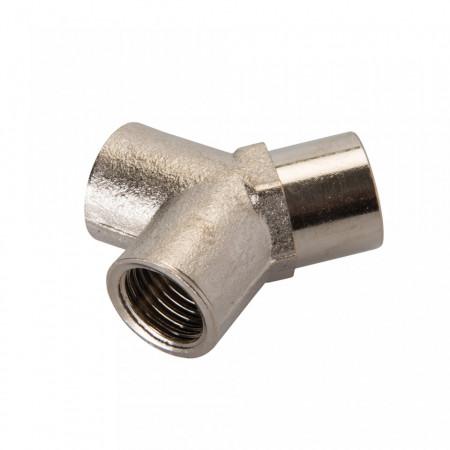 Cupla 1/4 , tip Y, placat zinc, Silverline