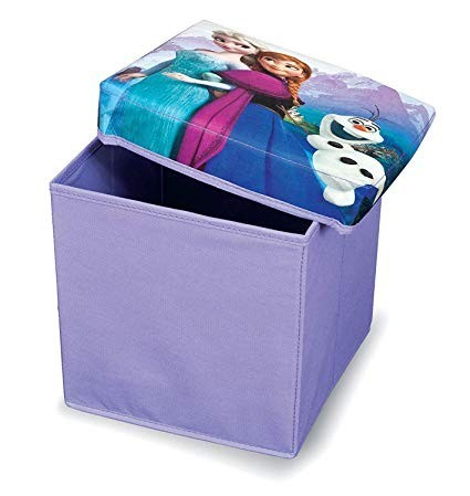 Cutie depozitare cu capac, taburet 85Kg, Frozen, 2 in 1, 30x30x30 cm, Disney