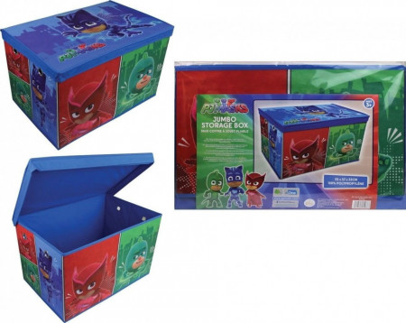 Cutie depozitare jucarii cu capac, 55 x 37 x 33 cm, XL, 100% polipropilena, PJMASKS