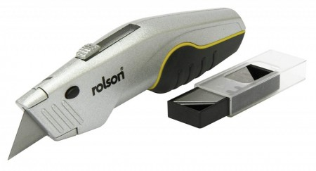Cutter retractabil, compartiment lame, 170mm, 5 lame, Rolson