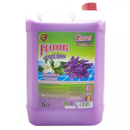 Detergent pardoseli, fara clatire, Lavanda, 5L, Cloret