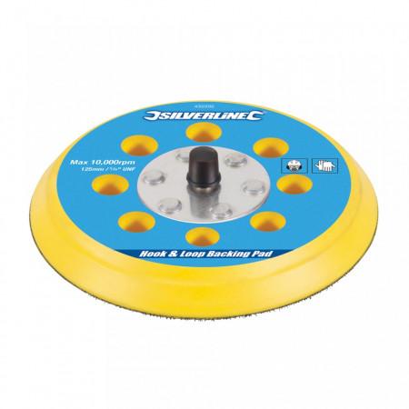 Disc rezerva cu arici pentru slefuitor pneumatic, 125mm, Silverline