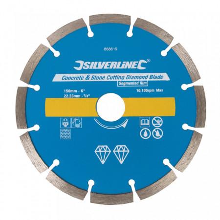 Disc taiat beton, caramida, 150 x 22.23 mm, Silverline