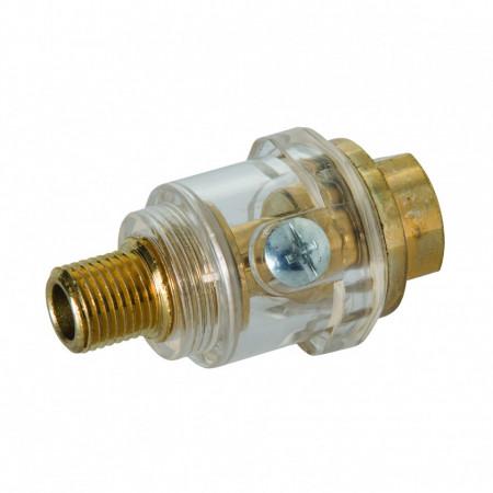 """Mini lubrificator pneumatic automat pentru scule mici , 55mm , 1/4 """" , Silverline Mini In-Line Oiler"""