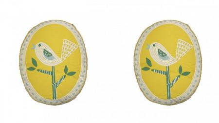 Set 2 perne decorative premium, 30 x 40 cm, pasare, broderie, George Home