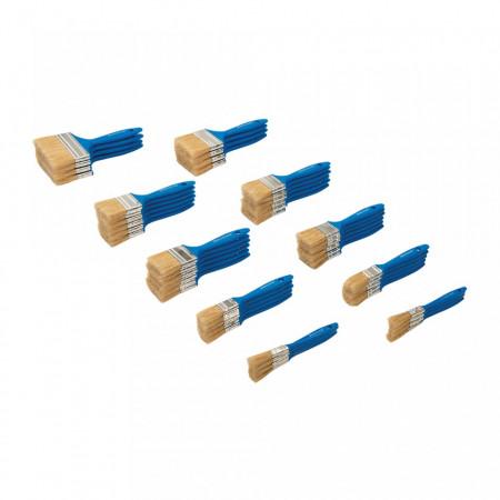Set 50 pensule vopsit, 8 x 12mm, 10 x 25mm, 6 x 40mm, 18 x 50mm, 4 x 75mm and 4 x 100mm, Silverline