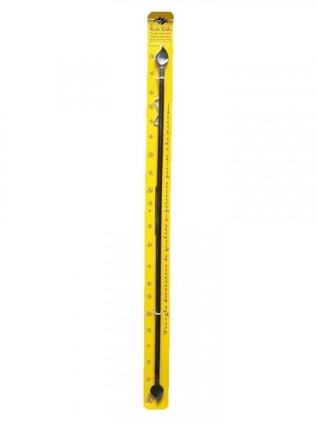 Suport perdea mini, expandabil, 60 - 80 cm, 10mm, metal, negru, Rido Deko